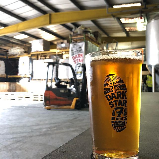 "Working hard to get the brewery ready for tomorrow's DS7 run raising money for the @Darkstarbrewco Foundation. When I say ""working hard"" we're thinking about it anyway. ‬"